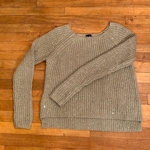 3/$20 - Sparkle Knit Hi/Low Sweater TWIK - M